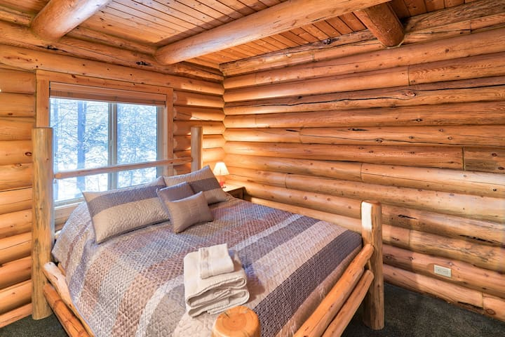 The comfortable bedrooms are the perfect place to rest after a day of hiking, fishing, or exploring.