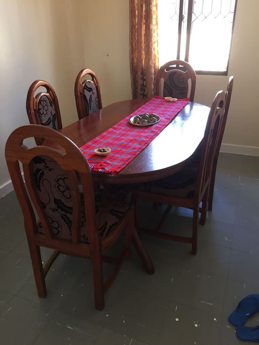 our beautiful dining area can accommodate up to 6 people