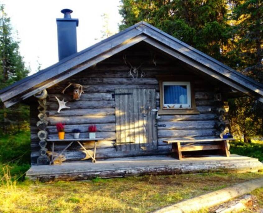 unsere Hütte im Sommer