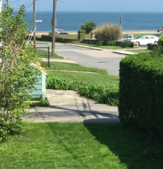 One street from the ocean. The view from your yard.
