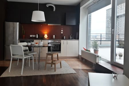 Spacious apartment, private terrace, amazing view!