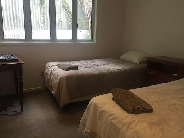 Quiet bedroom in luxury townhouse