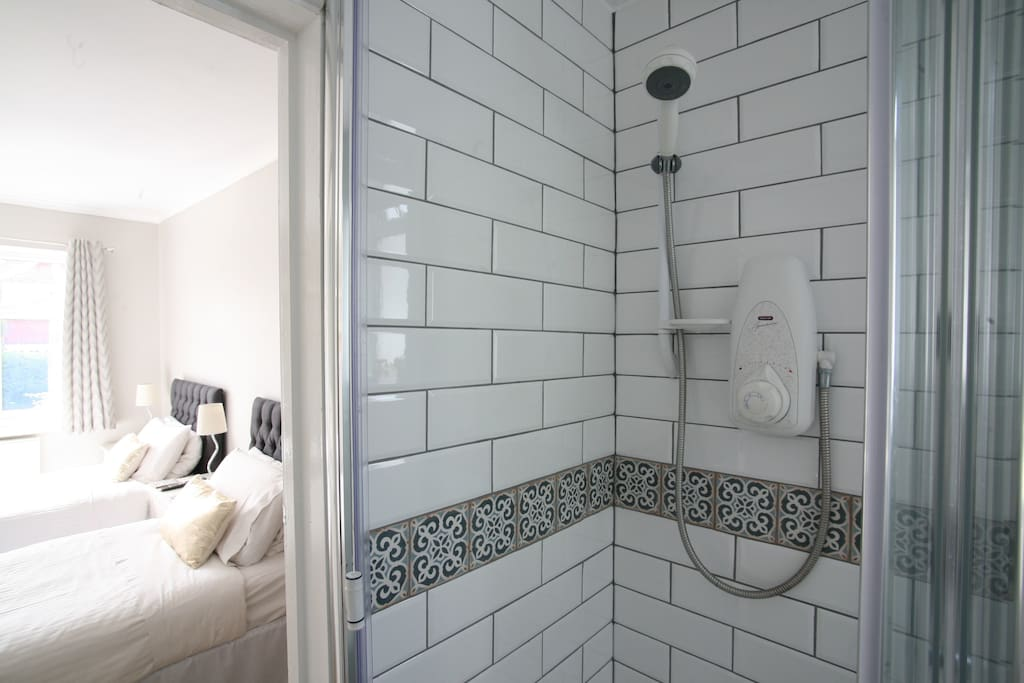 En-Suite shower room with toilet and basin