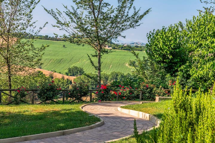Lovely country apartment with shared pool, garden, and terrace!