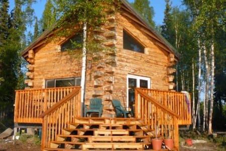 Log Cabin on Lake*Airstrip*Luxurious & Rustic!