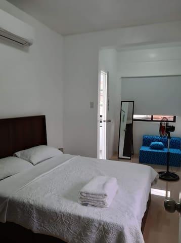 Bedroom 1 Queen and Sofa Bed