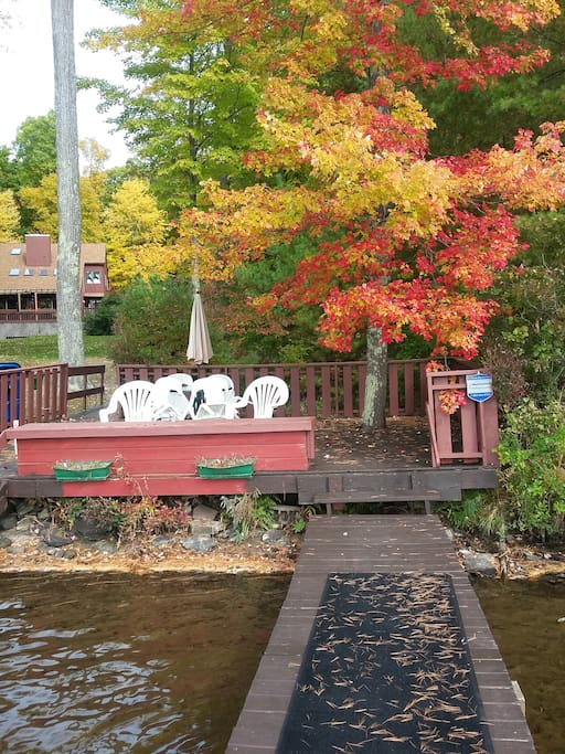 Private Dock with Fall Foliage