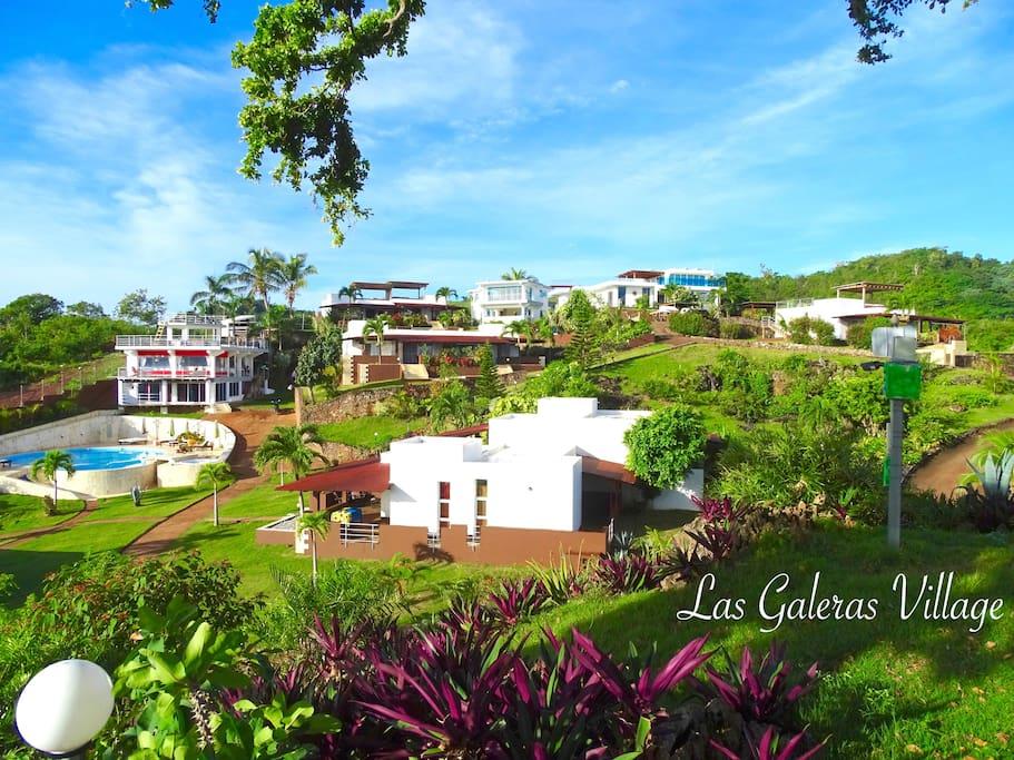 Aerial view Las Galeras Village...