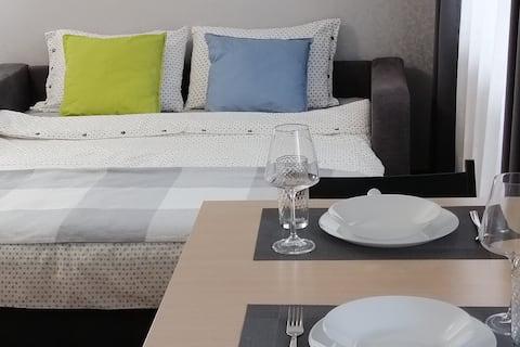 Чистая и уютная квартира-студия в центре города