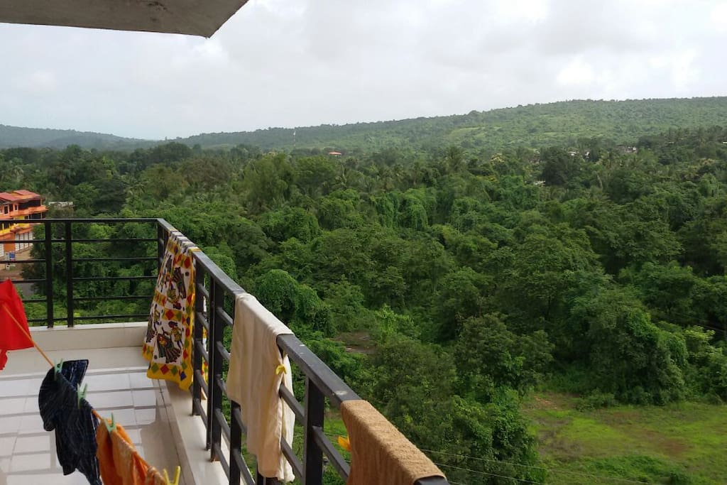 Long rear balcony wilderness view