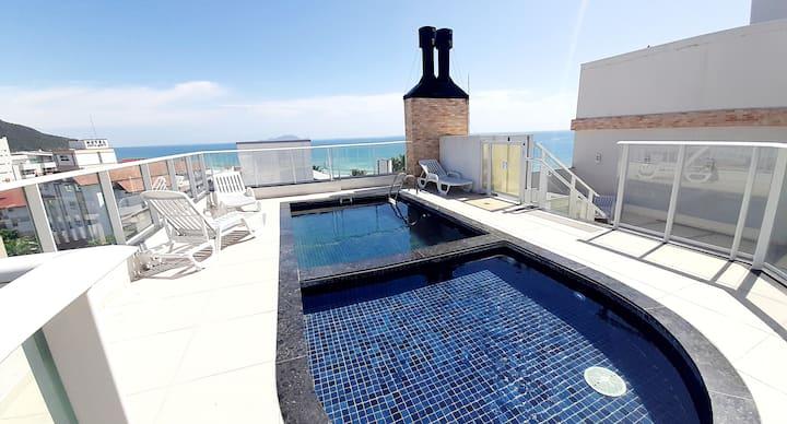 20 m do mar - Apartamento no Gaivotas Apart Hotel