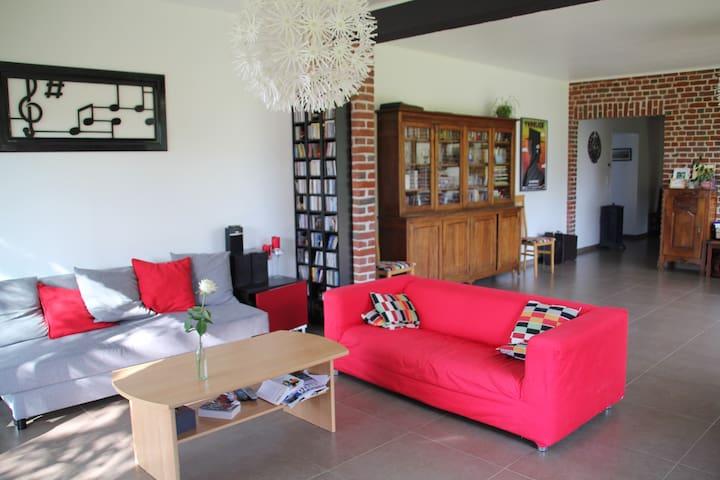 2 Chb, Gde maison à la campagne, à 5 min d'Arras - Neuville-Saint-Vaast - House