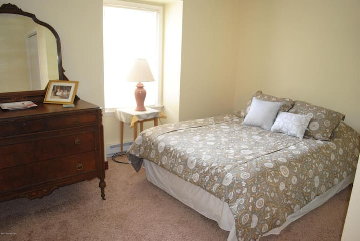 Queen bed room...walk in closet, two large dressers.