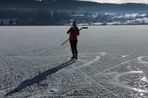 Lac Saint Point en hiver