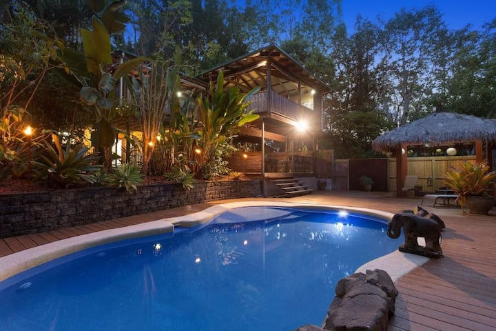 Sunshine Coast Hinterland Retreat sleeps 10 - Palmwoods - Haus