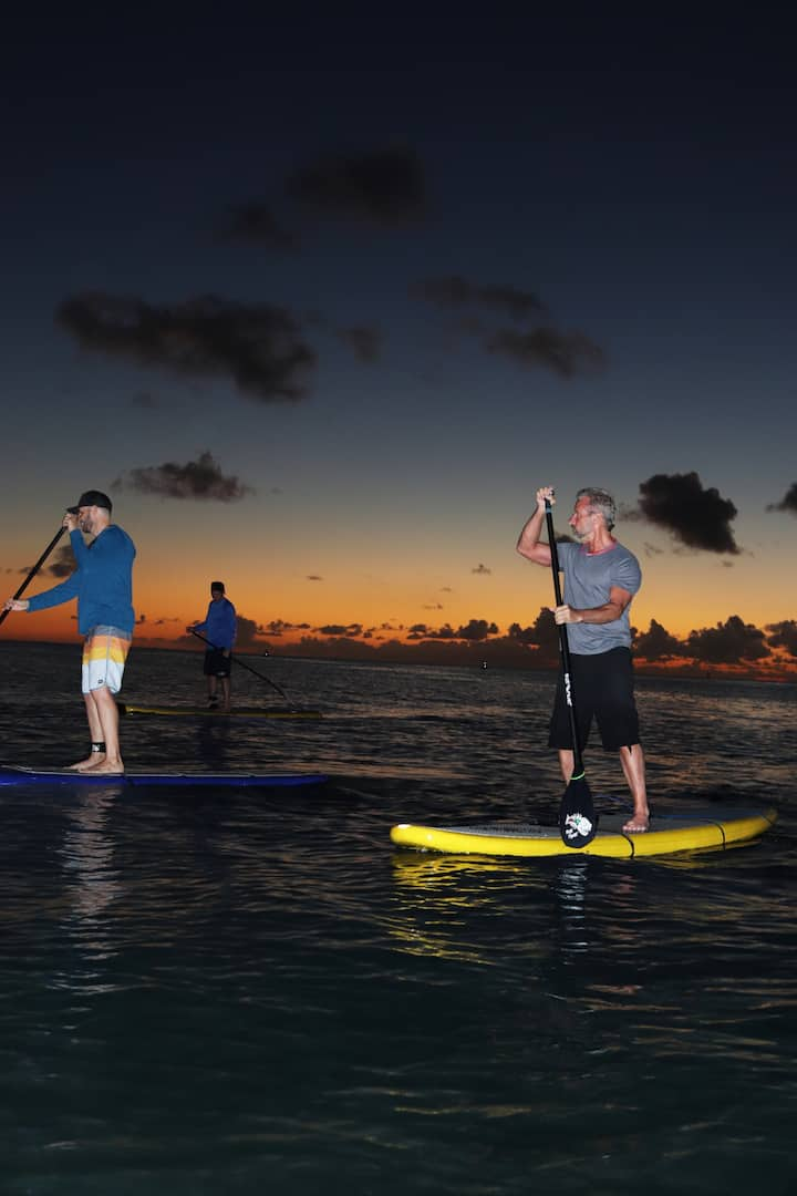 "Feel the ""zen"" of paddling at night"