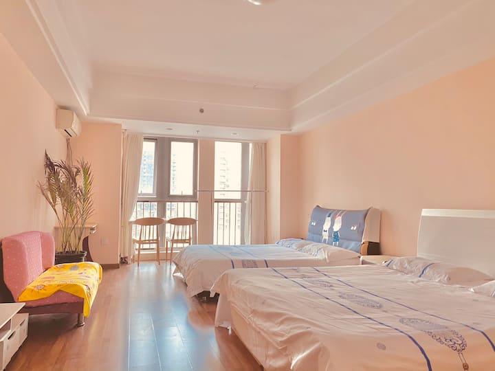 「城舍民宿~万达广场」温馨双床房,让你在旅途得城市中寻找到一处安心之所