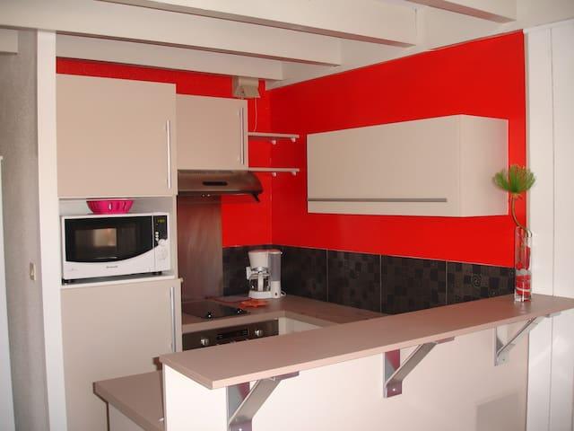 Appart 1 pièce avec mezzanine à 150 M de la plage - Vielle-Saint-Girons - Apartmen