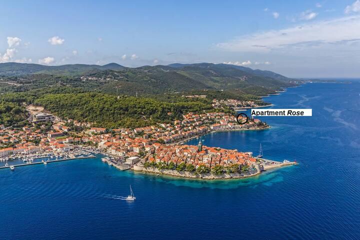 Apartment Rose close to Korčula center
