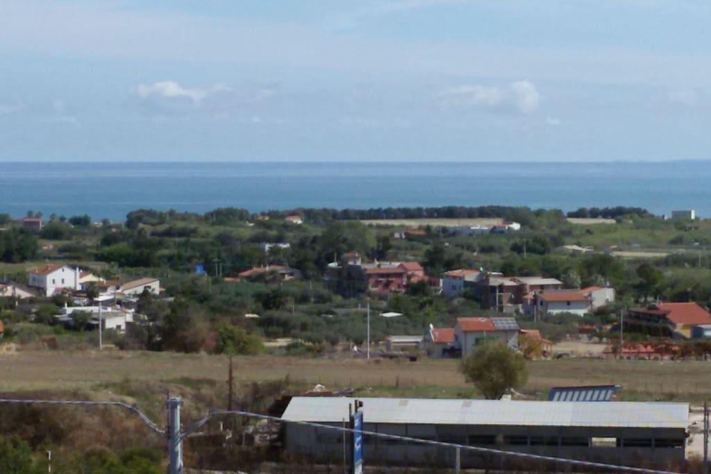 La vista panoramica sul mare e le Isole Tremiti