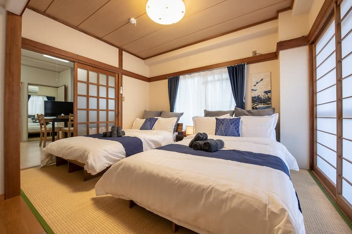 5 min to Asakusa/Cozy room/8ppl/PocketWiFi#201
