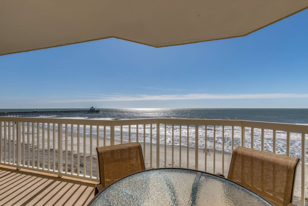 """Carolina Gold"" - Oceanfront Balcony View"