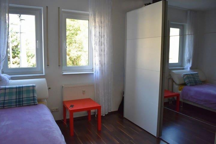 Cozy bedroom at great area in Frankfurt