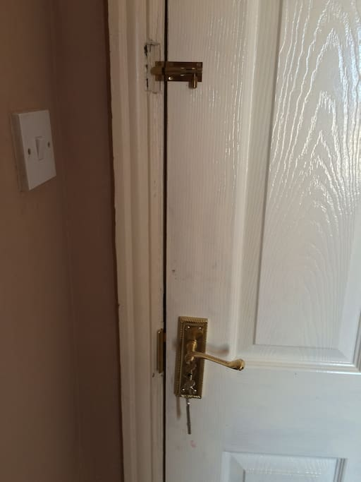 Lock on bedroom Door