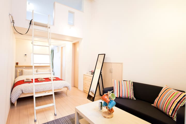103. New open Shinjuku 12min/Wifi/MAX5 - Suginami-ku - Departamento