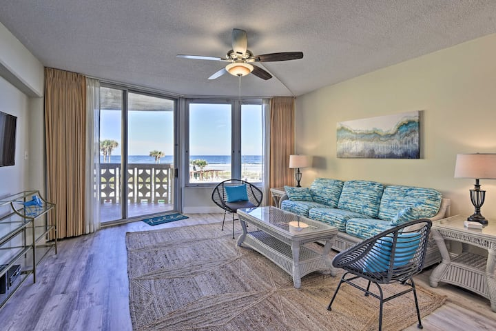 NEW! Oceanfront Condo, Walk to Flagler Ave Shops!