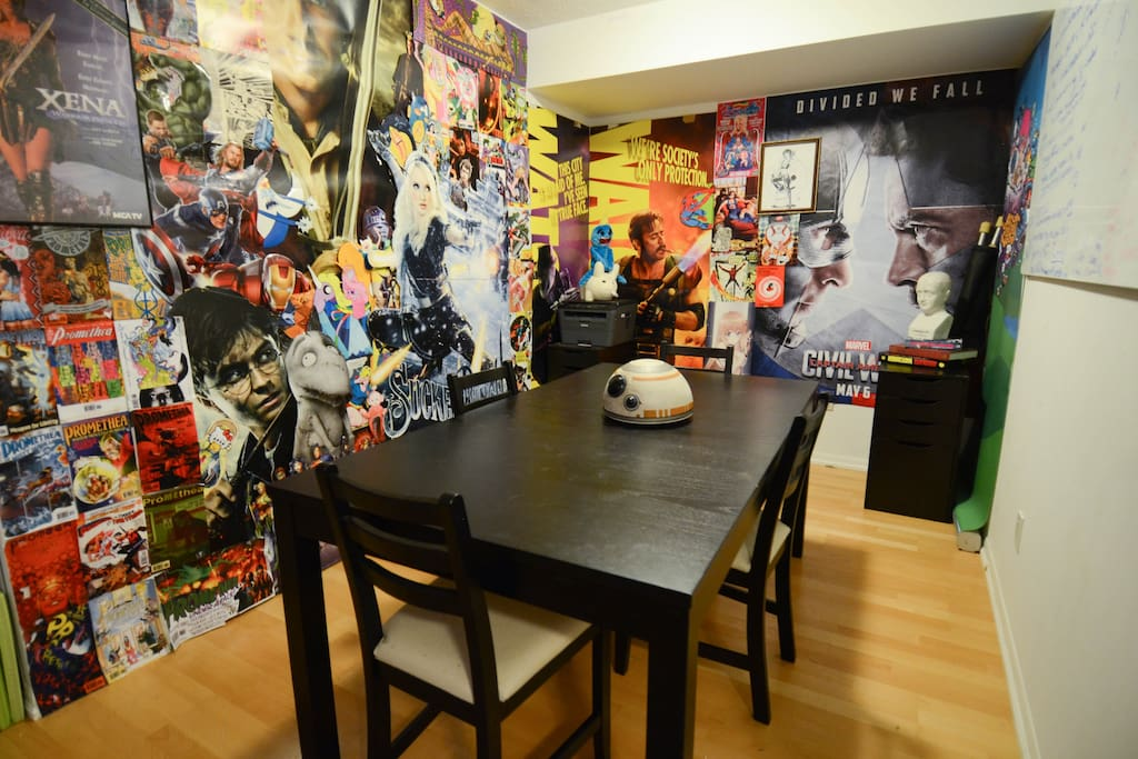 Geeky Den and dining area