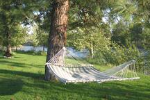 Relax and unwind in one of our hammocks