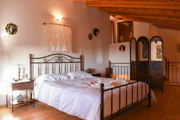 Bedroom area on the floor
