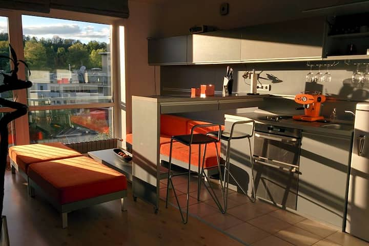 Eco friendly Orange apartment