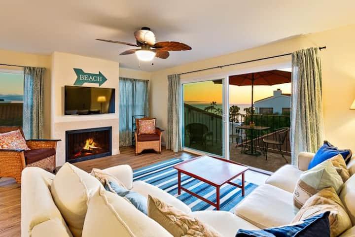 Condo w/ Ocean + Pier Views, Walk to Beach + Dining
