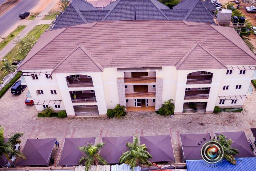 Arial view of apartments