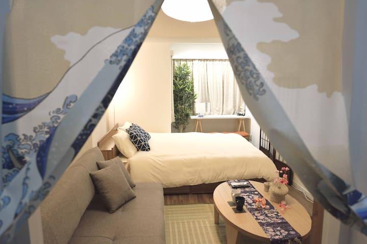 Heart Of SHIBUYA, 1K, new furniture with FREE-WIFI - Shibuya - Apartment
