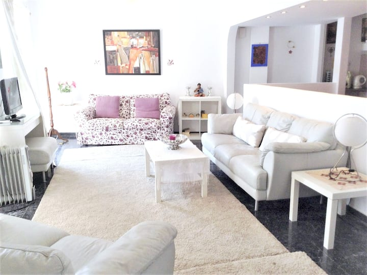 Apartment with 2 bedrooms in Athens, with wonderful city view, furnished terrace and WiFi - 10 km from the beach