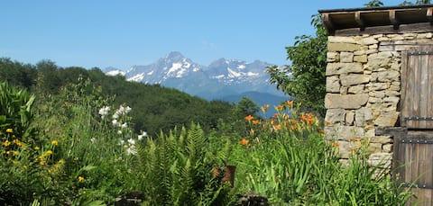 Petit gîte en montagne avec vue exceptionnelle