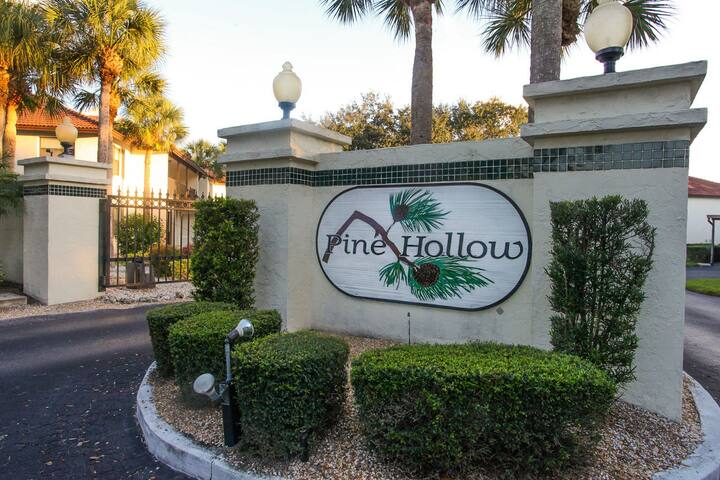 Cozy two bedroom, two bath condo nestled in the gated community of Pine Hollow