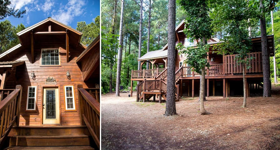 Front  views of this spectacular cabin