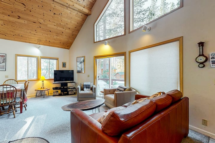Cozy, dog-friendly getaway w/ free WiFi, a wood stove, & a private washer/dryer
