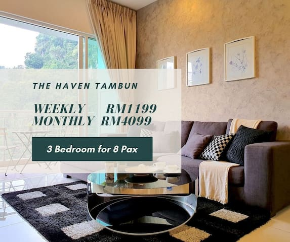 Ipoh | The Haven Executive Suite [8 Pax]