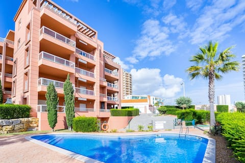Beautiful apartment with pool by the beach!