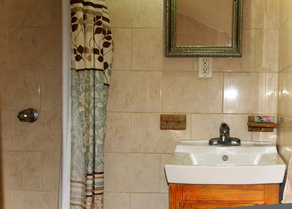 After a hectic day round the island come and enjoy a nice cool shower