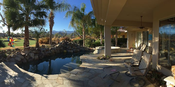 Gorgeous PGA West Golf Home with Waterfall Pool
