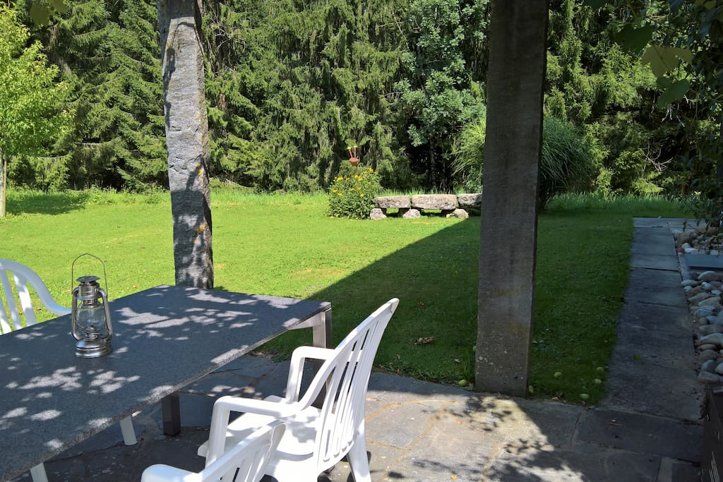 Gartensitzplatz - Pergola