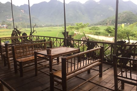 Authentic stilt house homestay with amazing view