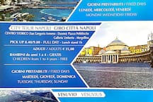 escursion: mountain Vesuvius, Amalfi Coast, Naples