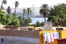 View from the rooftop to the Nile